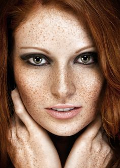 chubby redhead with freckles body