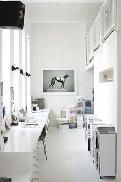 Long white desk +