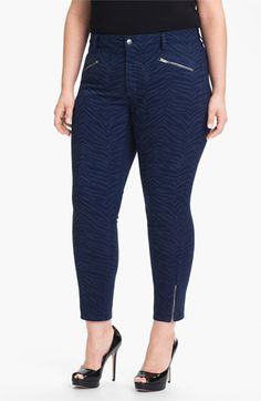 NYDJ 'Angelina' Print Zip Ankle Leggings (Plus) available at #Nordstrom
