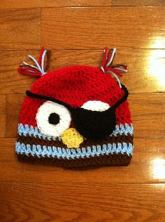 Crochet Pirate Owl Beanie Skullcap Hat sizes by passion4craftin, $12.00