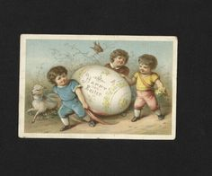 'A Happy Easter' Easter Card. 1881