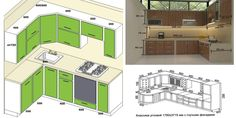 Standard Kitchen Dimensions And Layout - Engineering Discoveries Kitchen Cabinet Dimensions, Kitchen Cabinet Sizes, Kitchen Sets, Kitchen And Bath, Kitchen Layout Plans, Small Kitchen Layouts, Ikea Side Table, Kitchen Measurements, Kitchen Drawing