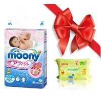 S, L, M - MOONY NAPPIES + WET WIPES