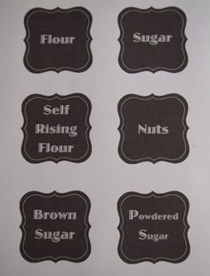 Pantry Labels, template