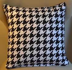 18 Inch Houndstooth Print Pillow Cover Add a little modern to your home! Pillow Inserts, Pillow Covers, Back To Black, Black And White, Man Cave Accessories, Signature Style, Houndstooth, Craft Stores, Throw Pillows
