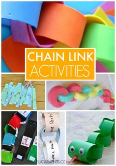 Chain link activities and crafts for kids. Paper chains are FANTASTIC for kids fine motor skills!