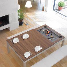 Mesa dois em um -Fusiontables Steel Coated Pool Table