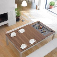 Mesa dois em um - Fusiontables Steel Coated Pool Table