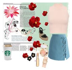 """""""casual2"""" by sylmaraperes ❤ liked on Polyvore featuring interior, interiors, interior design, home, home decor, interior decorating, Chicwish, WearAll, tarte and Yves Saint Laurent"""