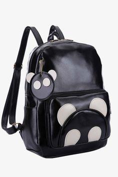 Cute Black Bear Backpack