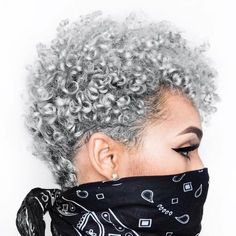 Hairstyle Ideas For Natural Hair | Now that spring is in full swing, it's time to freshen up your look! Black Curly Hair, Natural Afro Hairstyles, Curly Hair Styles, Dreadlocks, Hairstyle Short, Gray, Dreads, Black Curls, Box Braids