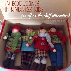 The Kindness Kids {an alternative to elf on the shelf} are from the city of Goodwill.  They arrive every year on the eve of December in a suitcase with stickers from their travels.  They spread kindness and goodwill in the name of Jesus all throughout the Christmas season.   #randomactsofkindness #orthodoxmom