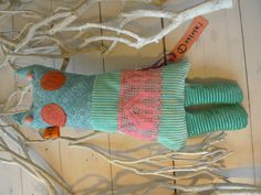 Hand made toy with recycle  fabric, by ateliersolari Netherlands