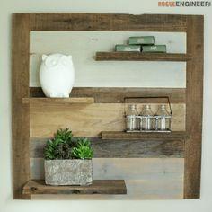 Scrap Wood Shelf { DIY Plans } | rogueengineer.com #DIYScrapWoodShelf