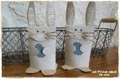 Déco de Pâques : des lapins avec des rouleaux en carton I  Les p'tites décos de Lolo