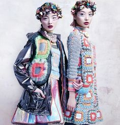 #crochet granny square style from designer celiab - #fashion
