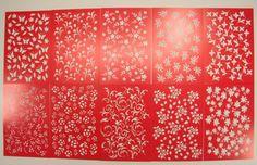 Schablonen, 10 x 15 cm, Design 1, 10er Set