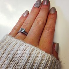Chunky Knit and Sparkle - Engagement Ring