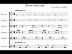 One Minute Boomwhacker piece - Notated (Accompaniment Only) for classroom use - YouTube