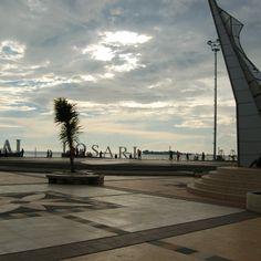 Beach area of Makassar, named pier or anjungan.