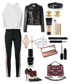 """Untitled #653"" by lalimalenagonzalez-1 on Polyvore featuring beauty, Fendi, Gucci, Yves Saint Laurent, Michael Kors, Chanel, Maybelline, Barry M, Stila and Marc Jacobs"
