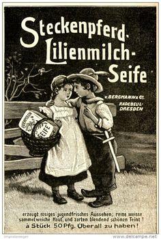 Original-Werbung/ Anzeige 1910 - STECKENPFERD LILIENMILCH - SEIFE - ca. 90 x 130…
