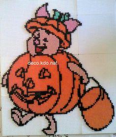 Piglet Halloween hama beads / cross stitch by deco.kdo.nat: