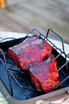 Whiskey glazed corned beef?! This would probably work well on pork tenderloin, as well.