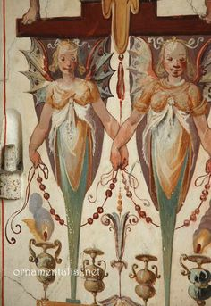 Grotesque decorative painting from Pallazzo Vecchio, Florence. See the ornamentalist.net for wonderful information on the form of decoration.