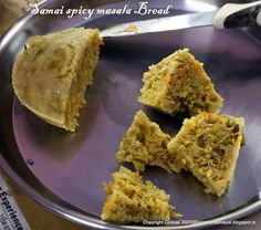 Samai spicy masala Bread [ Little millet spicy masala Bread ] Vegetable Masala, Tiffin Recipe, Millet Recipes, Cooked Cabbage, Evening Snacks, Chutney Recipes, Plates And Bowls, Pressure Cooking, Cooking Time