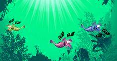 Remember! If the water in your tank has a green or yellow-ish tinge, that's a good sign because there's food in the water, but if the water is clear… Your Aqua Dragons might be hungry!  ¡Recuerda! Si tu pecera tiene un color verde o amarillento, es señal de que hay comida en el agua. Pero si el agua está muy clara…¡tus Aqua Dragons podrían tener hambre!  #AquaDragons