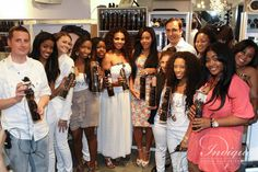 Ericka Dotson, Owner Of Indique, Angela Simmons and The Indique Team, rhinestone t-shirts