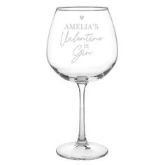 Personalised Balloon Glass - Gin Is My Valentine Personalized Valentine's Day Gifts, Personalized Balloons, Be My Valentine, Valentine Day Gifts, Gin, Brand Names, Wine Glass, Souvenir, Jeans