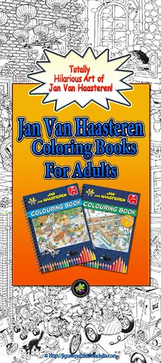 Jan Van Haasteren Coloring Book is the perfect companion to go along with your favorite Jan Van Haasteren Jigsaw Puzzles. Adult Coloring, Coloring Books, Difficult Jigsaw Puzzles, Hobbies For Couples, Puzzle Art, Hobby Ideas, Famous Artists, Adulting, Van