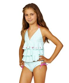4bf626ea9b Look at this Cayman Waters California Cami Bikini - Girls on  zulily today!  Swimsuits