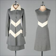 Vintage 1960s Dress and Jacket  2 pc Set  by millstreetvintage, $245.00