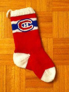 Ravelry: Montreal Canadiens Mittens pattern by Corina Irvine Knitting Patterns Free Dog, Crochet Patterns, Free Pattern, Stocking Pattern, Mittens Pattern, Christmas Knitting, Christmas Sock, Christmas Stuff, Sock Knitting