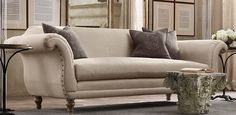 Creative of Restoration Hardware Linen Couch with Restoration Hardware Linen Sofa Classical Addiction Beaux Arts Living Room Remodel, My Living Room, Living Room Decor, Living Spaces, Linen Sofa, Upholstered Sofa, Beige Sofa, Restoration Hardware Sofa, Furniture Restoration