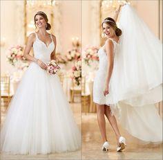 Vestido de novia desmontable