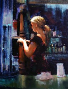 """May's Fabulous Pastels: Marla Baggetta, """"Closing Time,"""" pastel, 12 x 9 in"""