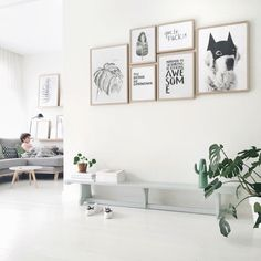 art wall // prints by My Deer Art Shop Living Room Interior, Home Living Room, Living Spaces, Lofts, Interior Styling, Interior Design, Home Decoracion, The Way Home, Decoration