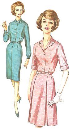 1960s Dress Pattern Slim Skirt Half Size Uncut Size 20 by SelmaLee