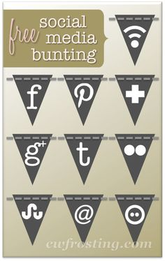 free social media icons and resources @cwfrosting design.lab