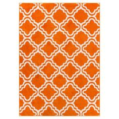 Well Woven Star Bright Calipso Kids Area Rug Orange / White - 09495