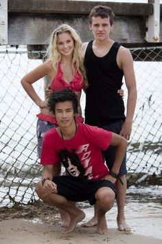 Tom Green (Sammy Lieberman), Alicia Banit (Kat Karamakov),and Jordan Rodrigues (Christiab Reed)- Dance Academy