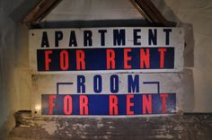 Vintage Apartment / Room For Rent Signs by RustedPulchritude