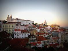 Miradouro das Portas do Sol, Lisbon  #miradouros #lisbon #tram28 #alfama #portugal #visitportuga