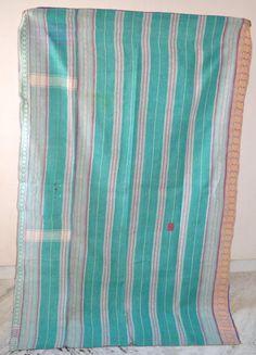 Handmade Vintage Kantha Quilt Heavy Gudari Reversible Gudri