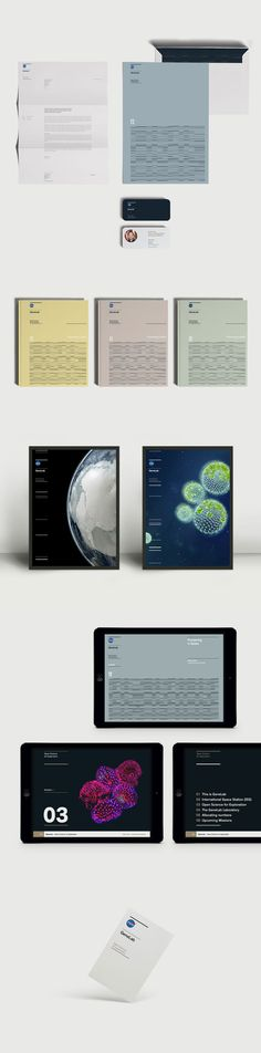 Nasa GeneLab - stationery, communication design, and visual identity for print and web.