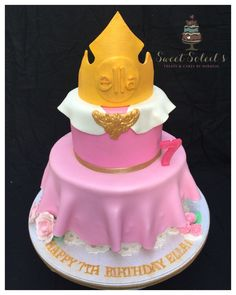 Princess Aurora from Sleeping Beauty Inspired Crowned and skirted Cake by SweetSoleils Treats